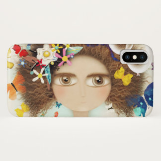 AFRO HAIR RUPYDETEQUILA DOLL HUGE EYES FLORAL iPhone X CASE