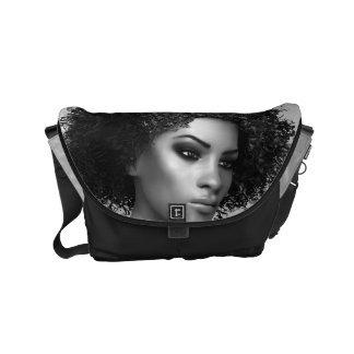 Afro Hair Small Messenger Bag