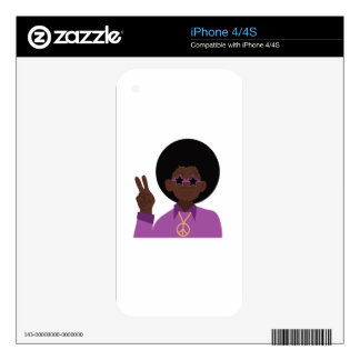 Afro Hippie Decal For The iPhone 4