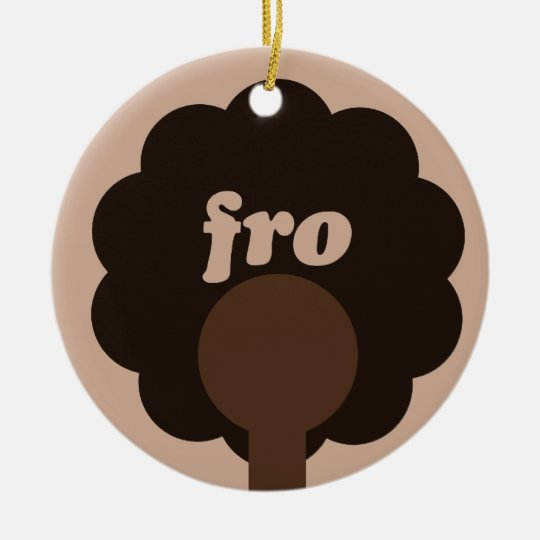 Afro Humor Ceramic Ornament