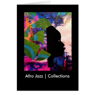 Afro Jazz | Collections Greeting Card