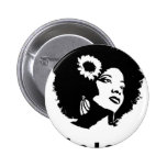Afro Love Pinback Button
