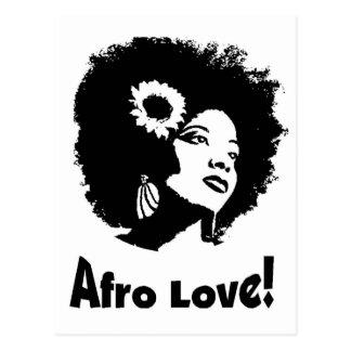 Afro Love Postcard