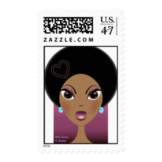 Afro Love Stamp