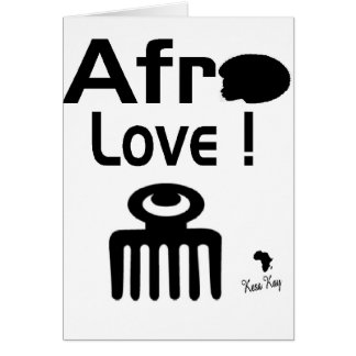 Afro Love with  DUAFE Card
