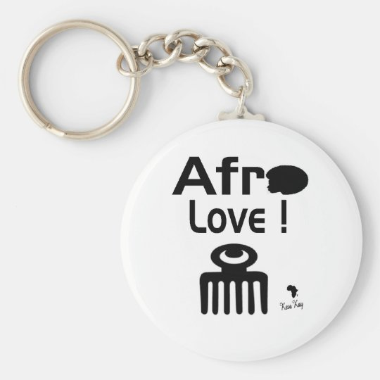 Afro Love with  DUAFE Keychain