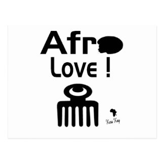 Afro Love with  DUAFE Postcard