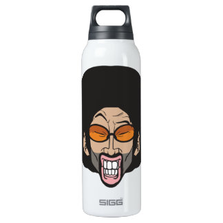 Afro man insulated water bottle