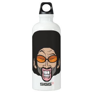 Afro man water bottle