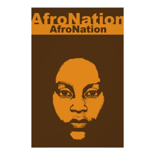 Afro Nation African Art Heritage Poster