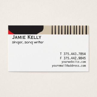 Afro natural curl pride business card