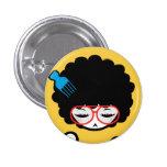 Afro Nina de los años 70 Pin Redondo 2,5 Cm