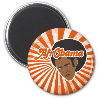 Afro Obama 2 Inch Round Magnet
