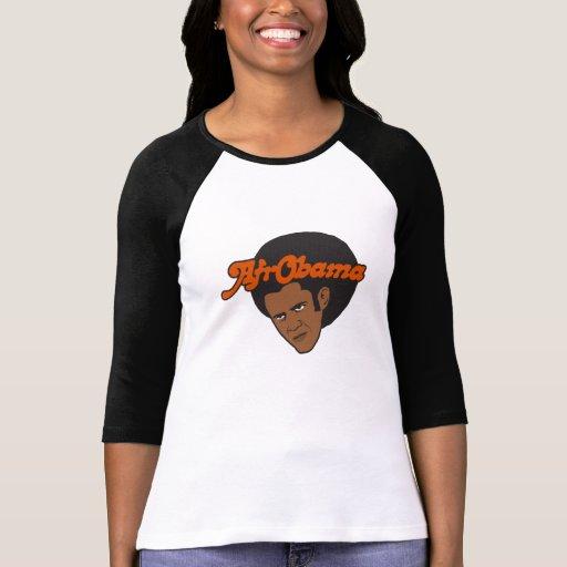 Afro Obama Camiseta