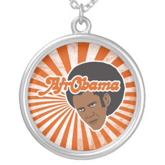 Afro Obama Colgante Redondo