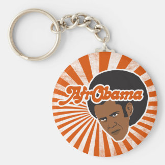Afro Obama Keychain