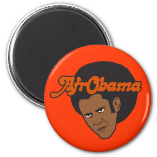 Afro Obama Magnet
