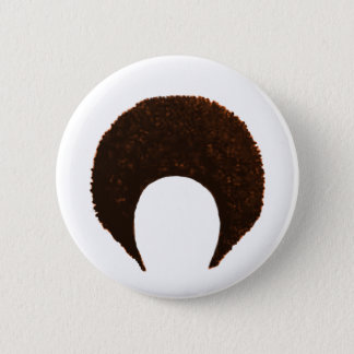 Afro Orange jGibney The MUSEUM Zazzle Gifts Pinback Button