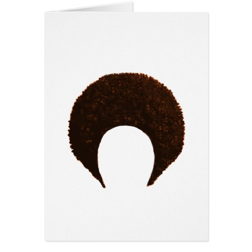 Afro Orange The MUSEUM Zazzle Gifts Greeting Card