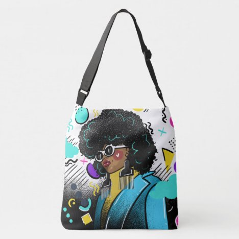 Afro Pick Crossbody Bag