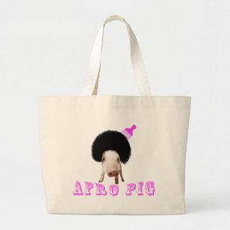 Afro Pig Canvas Bag