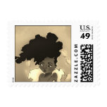 Afro Portrait Stamp