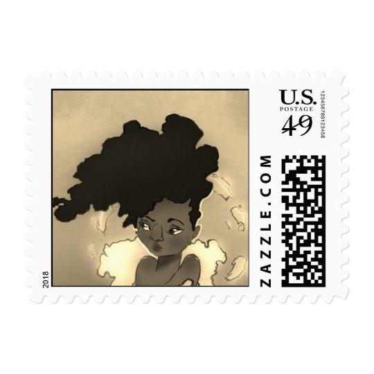 Afro Portrait Stamp
