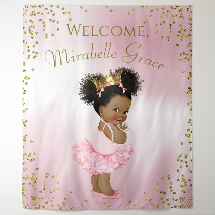 Princess Baby Shower Banner,Ethnic Princess Baby Banner,Ethnic Princess Baby Shower,Princess Birthday Banner,Princess Baby Shower Banner