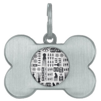 Afro Puff Pet Tag