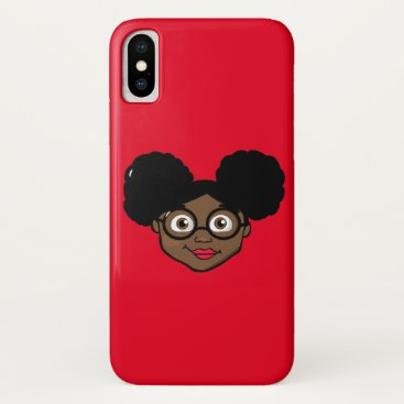 Afro Puffs Girl iPhone X Case