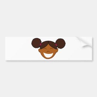 Afro Puffs Girl Face Bumper Sticker
