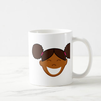 Afro Puffs Girl Face Coffee Mug