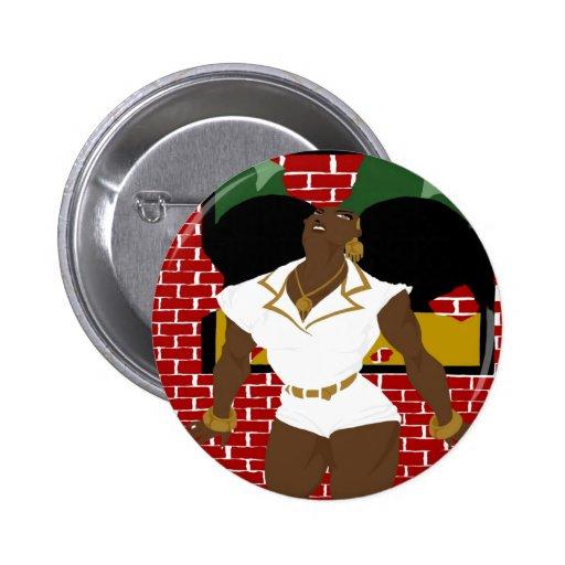 Afro Puffs Pinups 4 (Sketchbook Pro) Buttons