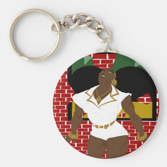Afro Puffs Pinups 4 (Sketchbook Pro) Keychain