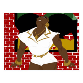 Afro Puffs Pinups 4 (Sketchbook Pro) Postcard