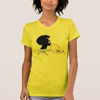 Afro Queen T-shirt Yellow