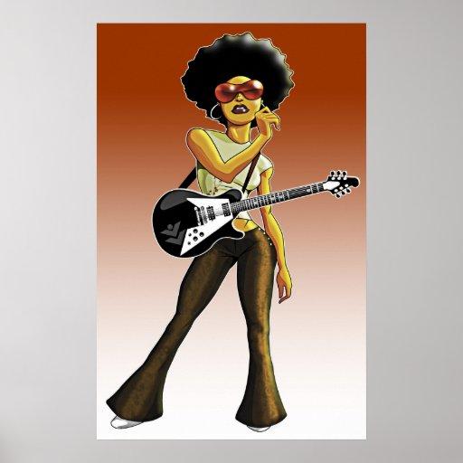 Afro rock goddess poster