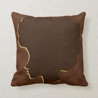 Afro Silhouette American Mojo Throw Pillow