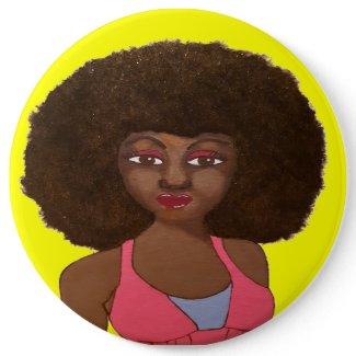 Afro Sista Button