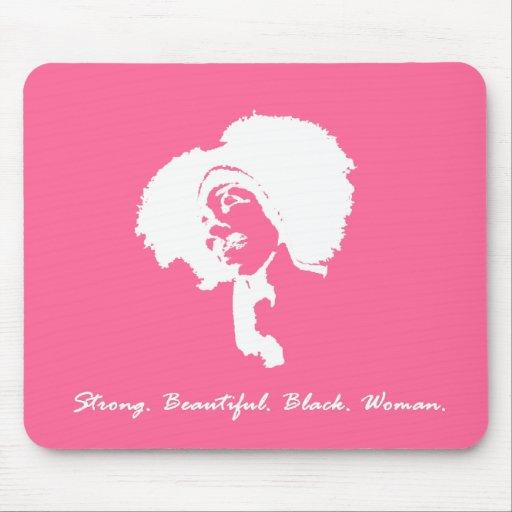 Afro Sista (rosa) Tapete De Ratón