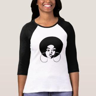 Afro Sistah With Hoop Earrings Tee Shirt