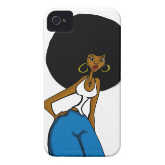 afro sister iphone case iPhone 4 Case-Mate cases