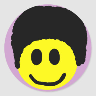 Afro Smiley Sticker