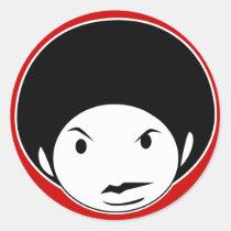 artsprojekt, afro, cartoon, black, Sticker with custom graphic design