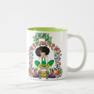 AFRo Vegan natural girl MUG