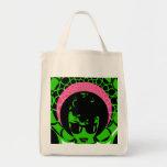 Afro verde de la bufanda del rosa de la cara bolsa de mano