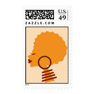 Afro Woman African Art Heritage Stamps