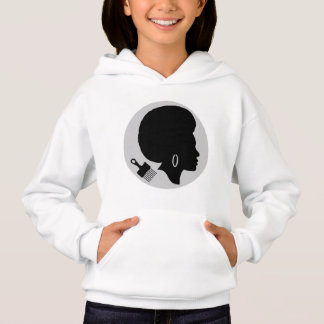 AFRO WOMAN (BLACK AND WHITE) Hanes Hoodie