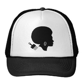 AFRO WOMAN (BLACK AND WHITE) Trucker Hat