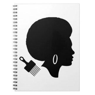 AFRO WOMAN ILLUSTRATION Photo Notebook